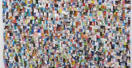 Dani Umpi | Manuela Trasobares, 2017 | Collage sobre papel. 80 x 74 cm