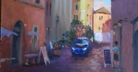 María Catalina Alberto | Calle de Italia | Óleo