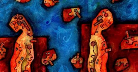Nicolás Obiglio | Separación ideográfica, 2014 | acuarela, tintas sobre papel