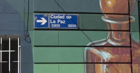 Fragmento del Mural realizado por alumnos y alumnas del Taller de Murales del Colegio de la Ciudad | Manuela Pedraza y Ciudad de la Paz (CABA) | Látex Exterior