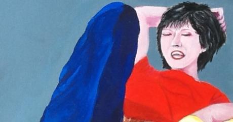 Graciela Graschinsky de Cohan | Encuentro| Acrílico sobre papel entelado | 30x45 cm, 2010.