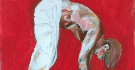 El salto - óleo sobre canvas | 40 x 45 – Graciela Cohan - año 2013