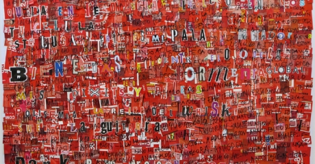 Dani Umpi | Nos atacan, 2017 | Collage sobre papel. 74 x 110 cm