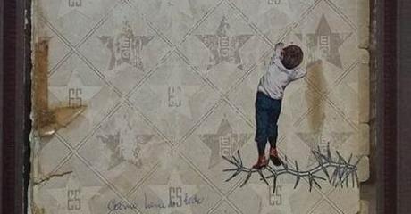 Andrea Burcaizea | Él sabe (con avidez deseante) | Collage sobre papel | 2016, 29x21 cm