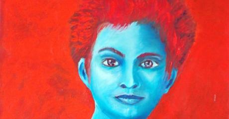 Retrato - técnica mixta sobre canvas| 30x60 – Graciela Cohan - año 2010