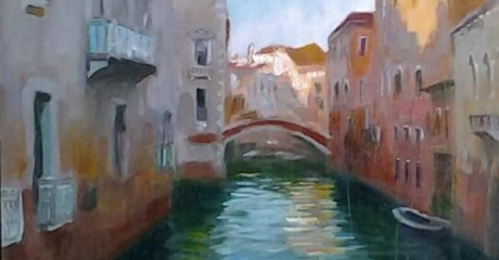 María Catalina Alberto | Venecia | Óleo, 30 x 45 cm