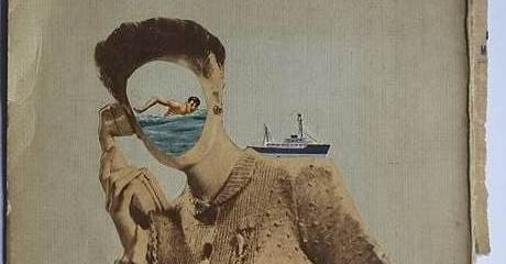 Andrea Burcaizea | El faro Esperanza 77 | Collage sobre papel | 2016, 15x21 cm