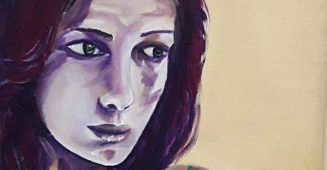 Graciela Cohan | Georgette, 2017 - Oleo sobre tela, 50x50 cm