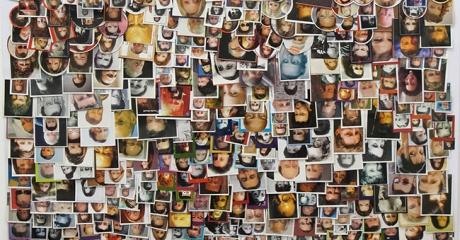 Dani Umpi | Caras Grande, 2017 | Collage sobre papel. 74 x 60 cm