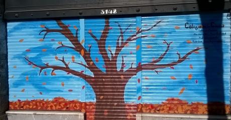 Mural realizado por alumnos y alumnas del Taller de Murales del Colegio de la Ciudad | Virrey Avilés y Freire (CABA) | Látex Exterior