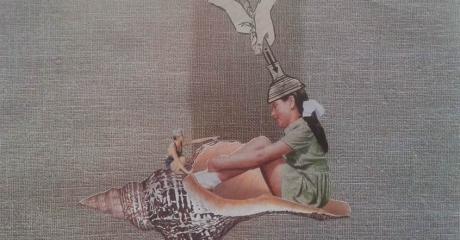 Andrea Burcaizea | Sin título | Collage sobre papel | 2014, 30x21 cm