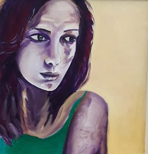 Graciela Cohan-«Georgette», 2017. Óleo sobre tela. 50x50 cm