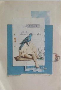 Andrea Burcaizea | Recibí | Collage sobre papel | 2019, 23x16 cm