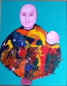 Graciela Graschinsky de Cohan | Serie Diversidades | Acrílico sobre papel entelado | 2010, 30 x 45 cm
